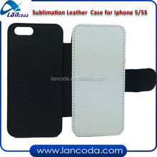 sublimation pu leather phone case for iphone5/5s,sublimation printing