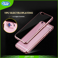 Transparent cell phone tpu cover case for iphone 6