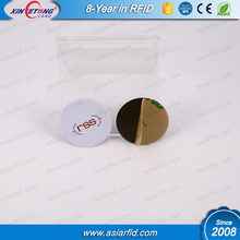 Customized LOGO Printing LF MF 1K Hard tags with anti-metal sticker