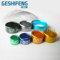 Factory Direct bird aluminium leg ring with low price
