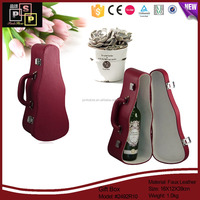 Factory Direct custom luxury guitar pu leather wine packaging box