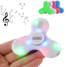USB Rechargeble Edc Wireless Speaker Music Hand Fidget Spinner Led Bluetooth
