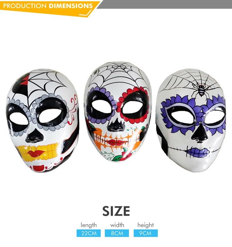 Factory kids new design white funny custom plastic white mask