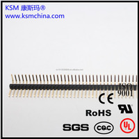 1.27mm single row right angle 1*50 pin male electronic connector