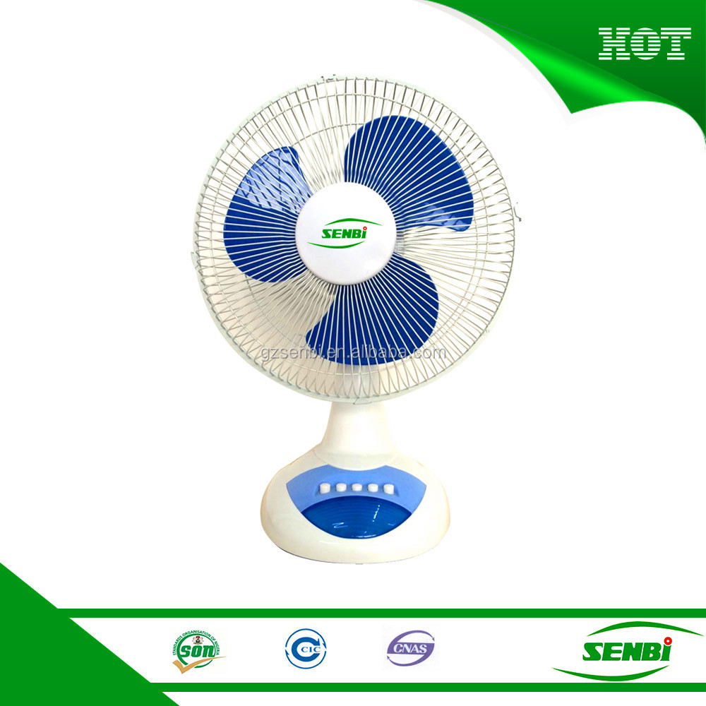 12v dc motor rechargeable portable powered electric table fan with battery