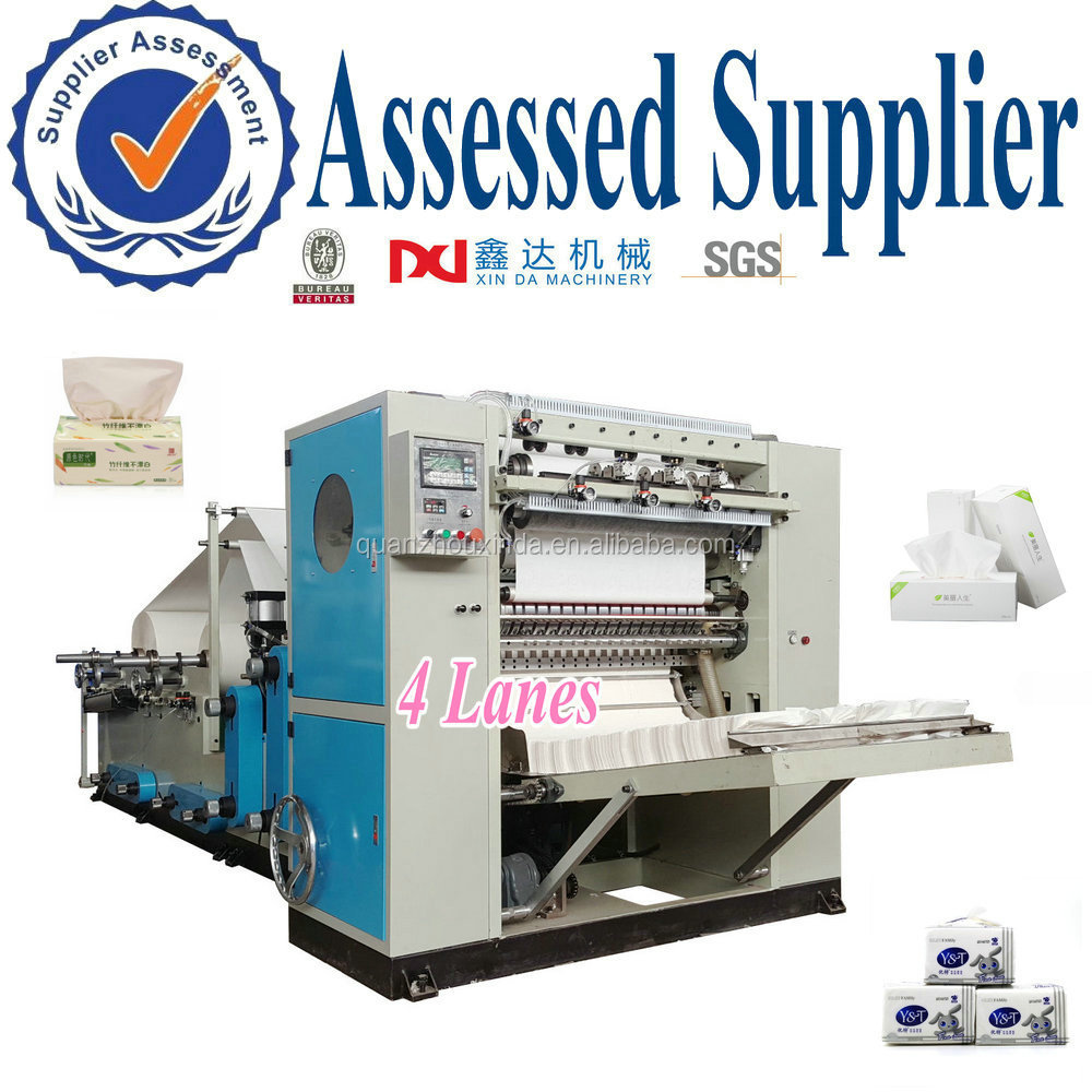 Embossing V Fold Facial Tissue Paper Making Machine