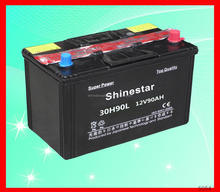 Shinestar Professionally-Producing 12 Volt 90 AH plastic auto battery With Best price