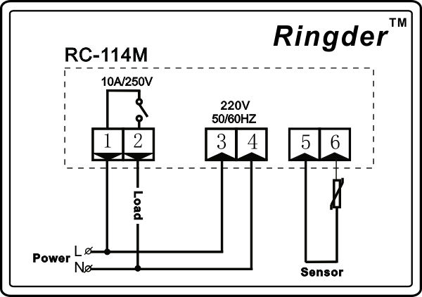 rc 114m heat controller 30~300c view heat controller ringder wiring diagram rc 114m heat controller 30~300c