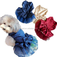 Pet dog dress dog summer wedding dress Very hot drilling and wedding dresses PC17