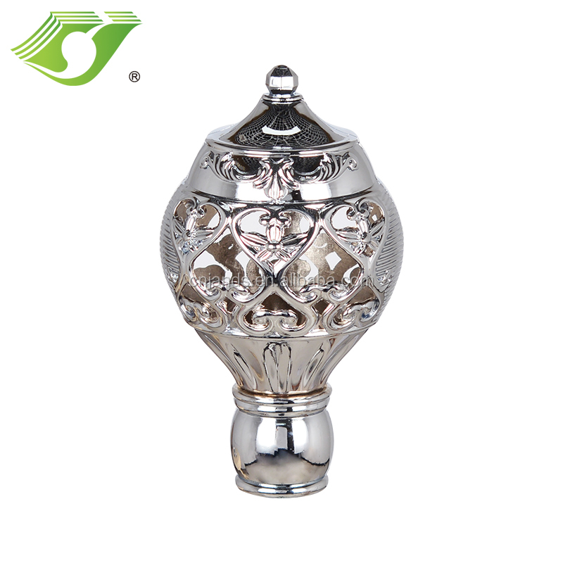 Curtain hardware/drapery rod/the ring electroplated rod Finial