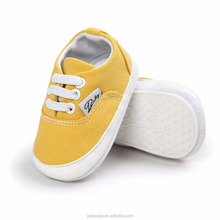 2017 new New arrival unisex canvas baby prewalker shoes baby shoes boy