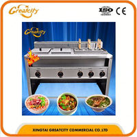 Self Equipped Exhausting System Stainless Steel AISI 304 CE Approved Gas Pasta Cooker