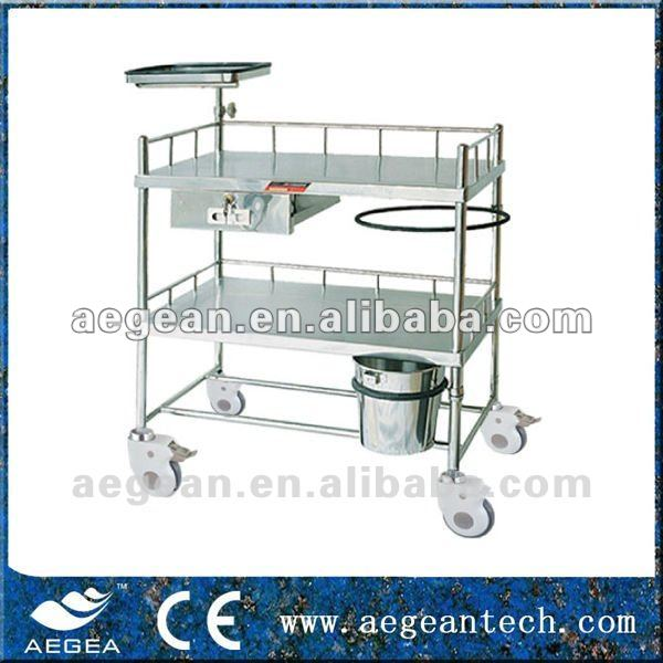 AG-SS052 Top Quality! Surgical SS Dressing and Instrument Trolley