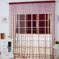 Cute Love Heart Line Tassel String Door Curtain
