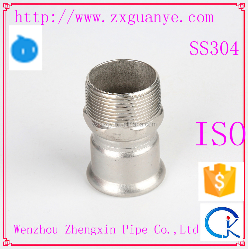 Stainless Steel Pipe Fitting Male Thread Coupling Manufacturer