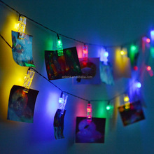 Holiday Light Mini Running Photo Solar Power Led Clip String Light for Decoration