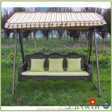 Outdoor garden patio chair 3 seater swing/DW-HCY005