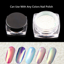 Hot sell aurora unicorn chrome powder wholesale shining neon glitter nail powder for coating
