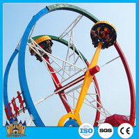 Big rotary game ferris wheel top spin amusement park ride / ferris wheel ring car for adult