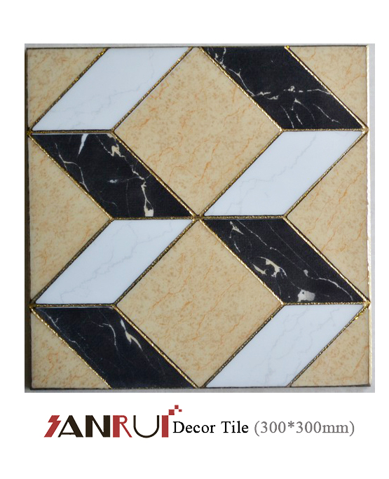Golden Porcelain Decorative Floor/Wall Tiles 300*300mm price in Egypt