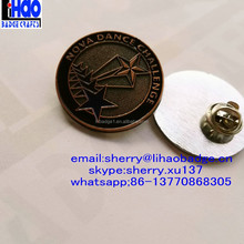 Custom Metal Lapel pin badge/Gold lapel pin/ 3D Zinc alloy Star badge Lapel pin
