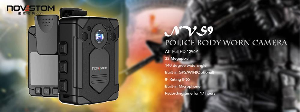 selling 1080P cctv security camera jammer body worn camera for police from novestom