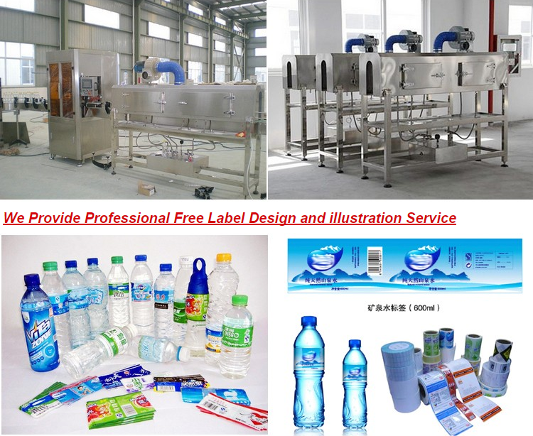 Cheap price automatic reliable medium capacity portable water bottle thermal contraction sleeve labeling machine