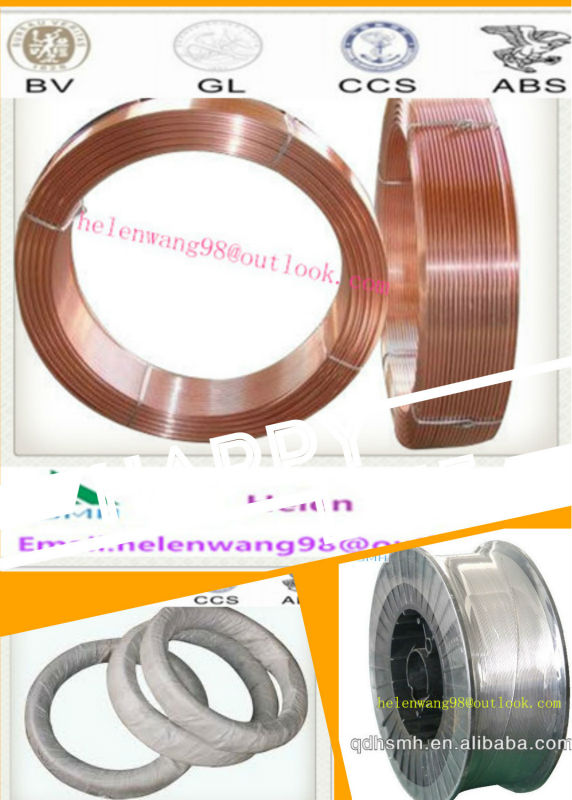 Cert:ABS CCS NK BV GL ISO/Copper Coated SAW Welding Wire EM12 H08MnA