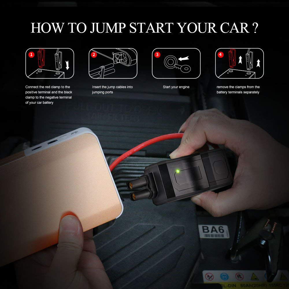 High capacity best price muti-function car jump starter with SOS , LED flashlight , charger mobile phone and notebook