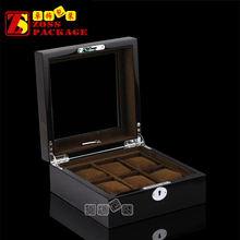 Personalized Luxury Wooden Watch Box with Acrylic Window, Watch Box 6