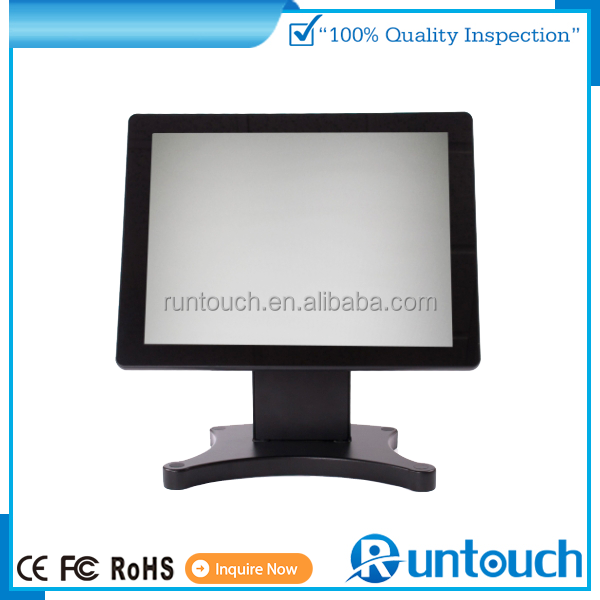 Runtouch touchscreen monitor true flat touch display optional with pos box ,VFD and MSR for pos monitor