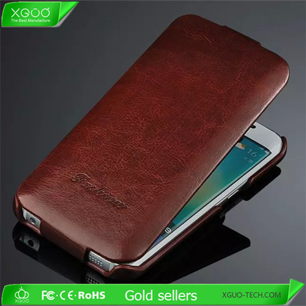 china supplier phone case for samsung galaxy s6 edge pu leather cover