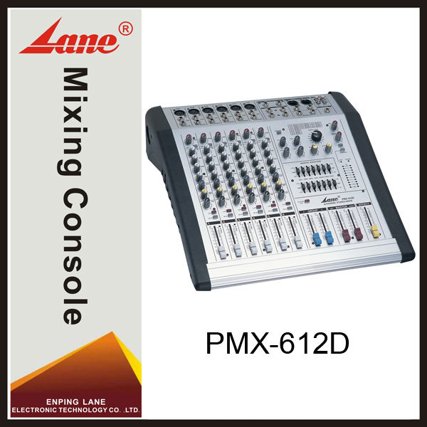 Lane PMX-612D professional power audio mixer console