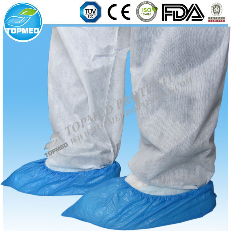 Disposable plastic shoe cover, CPE overshoes anti-slip for medical and industrial