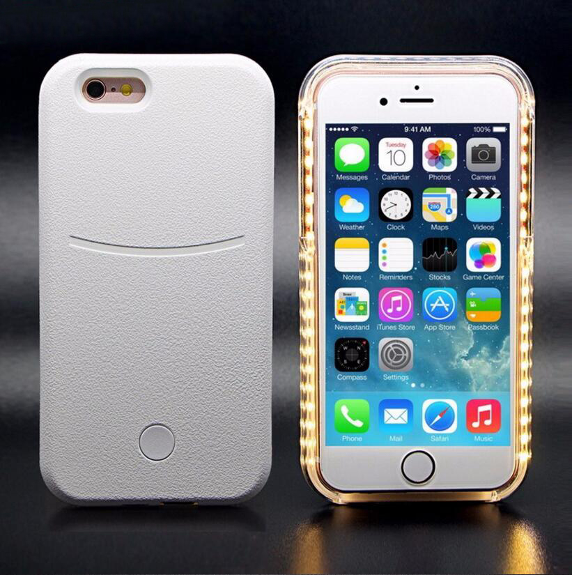 Factory Wholesale High Quality Selfie Led Flash Light Up Case For Iphone5 Phone Case