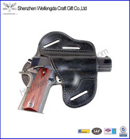 Ultimate genuine leather gun holster fits 1911 style handgun