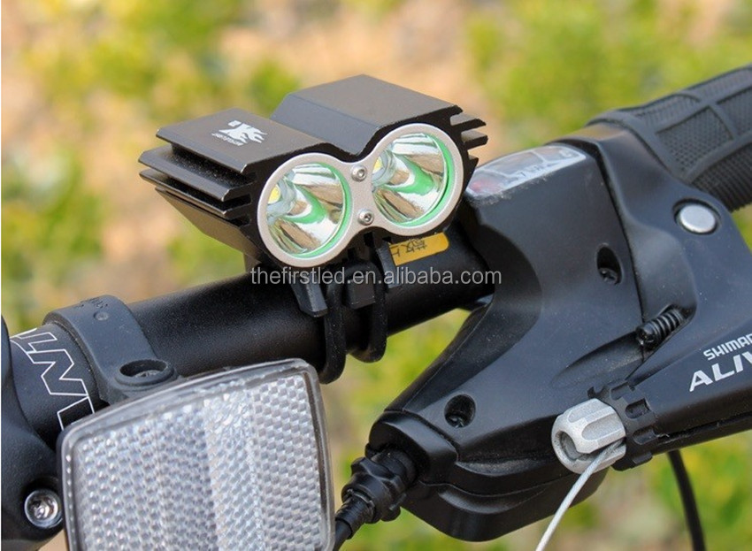 JEXREE Handlebar Mounting Placement and Front Light Position cree led mountain bike light