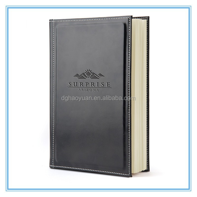 High Quality Promotion Custom Pu Leather Notebook,Pu Leather Diary with ribbon bookmark,Custom hardcover Note book