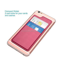 Red Mobile Pocket Card Wallet Two PU Leather Phone Case for Iphone