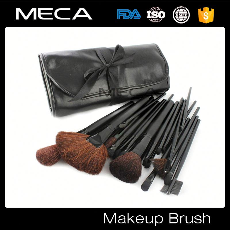 custom made makeup brushes Custom Logo black 24pcs make up brush set