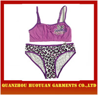 Customize lovely cotton Girl top panty Sets www .sex. com