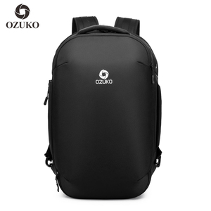 OZUKO 2019 New arrival bags USB charging waterproof shaped fashion bagpack custom backpack anti theft laptop backpack for men