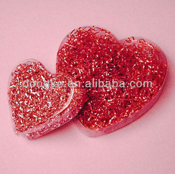 heart shape clear pvc box for small gifts