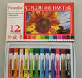 12 color stationery set mini shape oil pastels/paintings