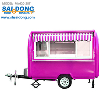 with customized advanced design towable hot cold food cornish pasty new trailer -truck sale outside condition using