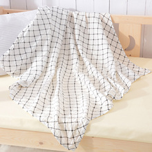 Cotton muslin comfortable swaddle blanket for baby