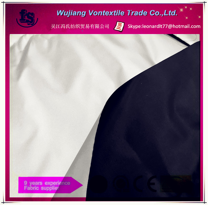 Cheap polyester silver coating water repellent 210T taffeta fabric for umbrella, car cover , curtain