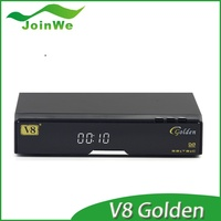 Digital free to air satellite tv receiver V8 Golden Card Reader support 2 x USB 2.0 High Speed Host full hd set top box