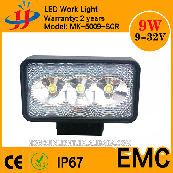 Super powerful square 9w 12v led light lamp Offroad motorcycle led driving lights led car headlight