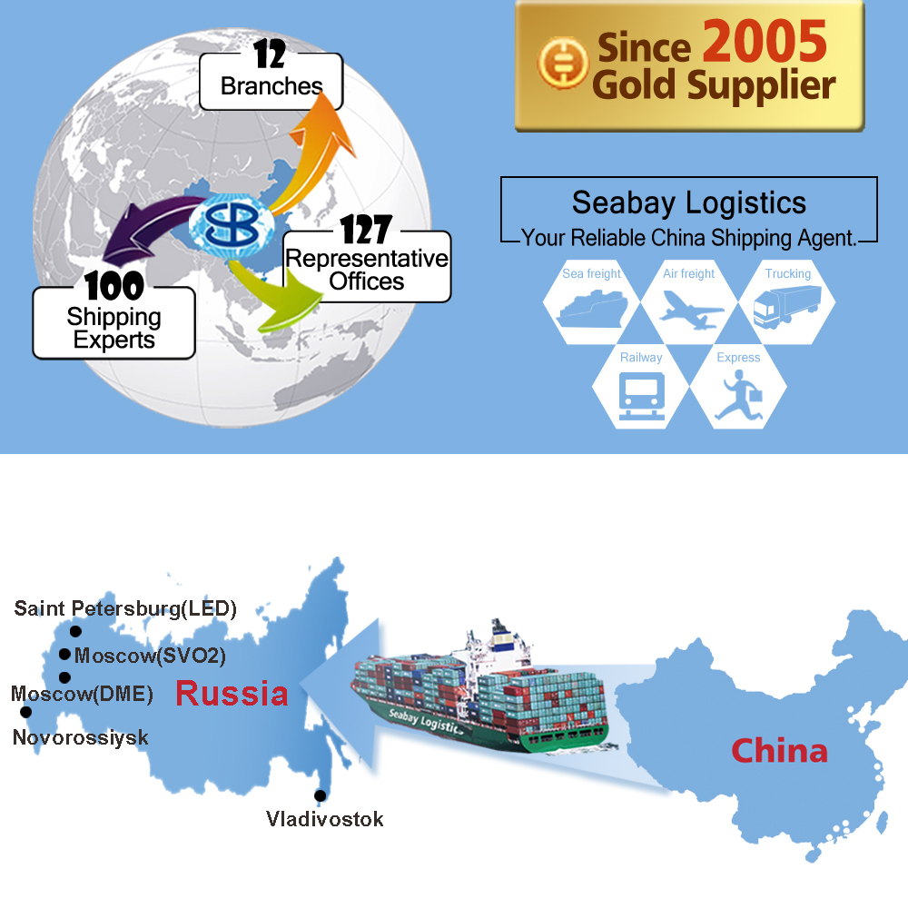 Sea freight shipping ocean forwarder shipping container agent from china to russia vladivostok novorossiysk moscow